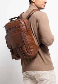 Pu Utility Large Backpack - Camel