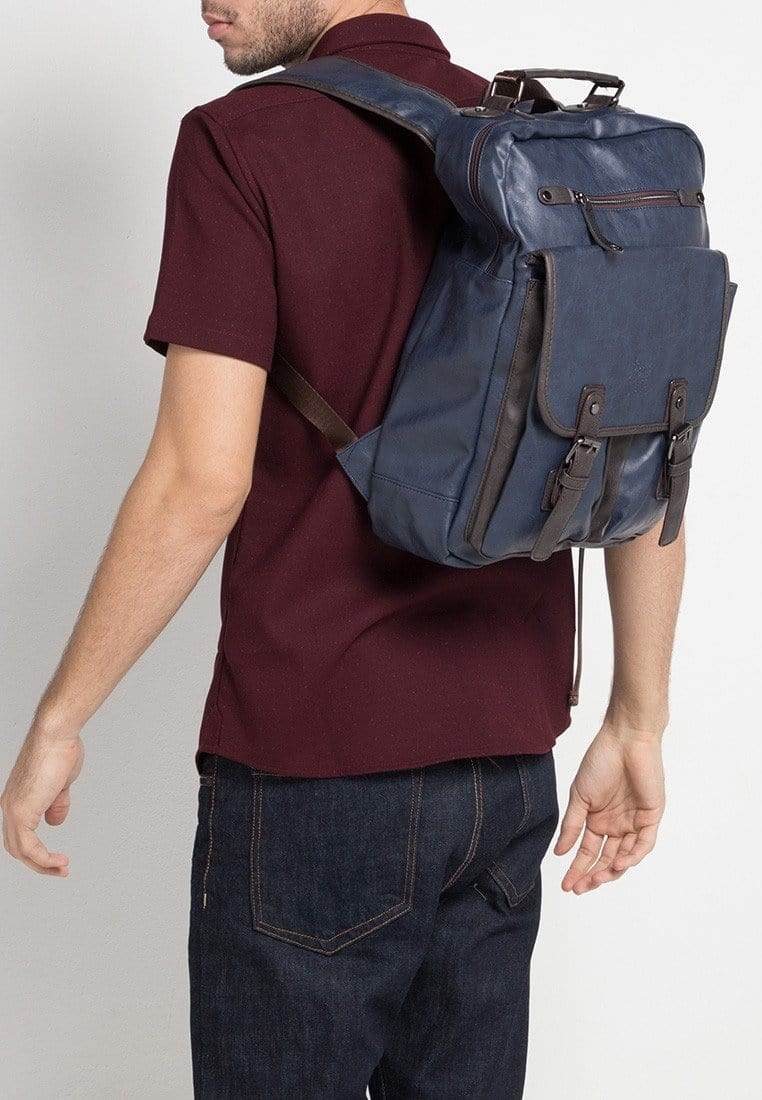 Pu Utility Large Backpack - Navy Backpacks - Urban State Indonesia