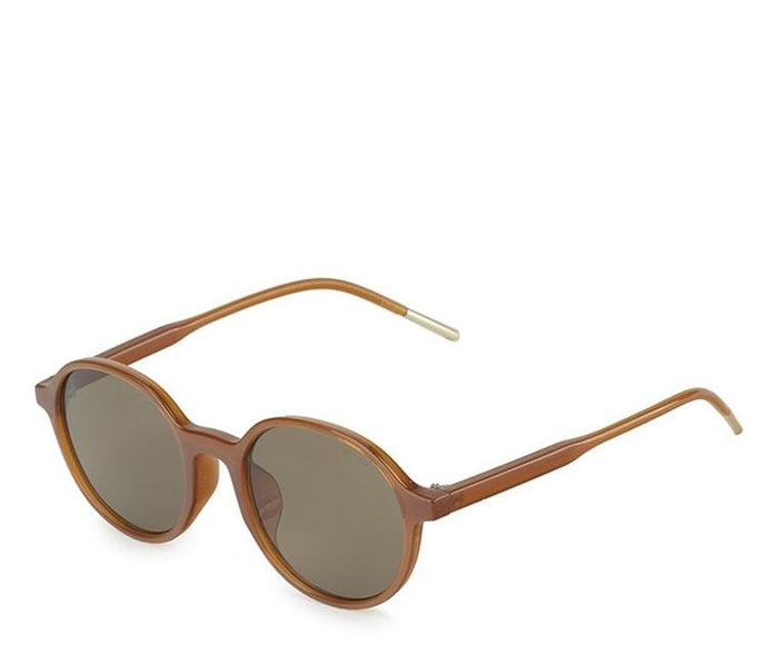 Retro Fashion Oval Sunglasses - Brown Brown