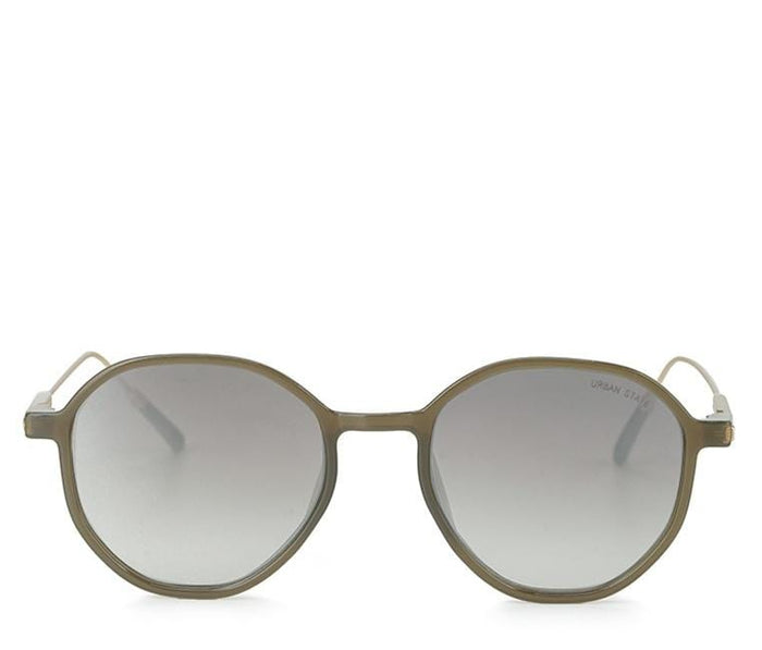 Retro Fashion Oval Sunglasses - Brown Green