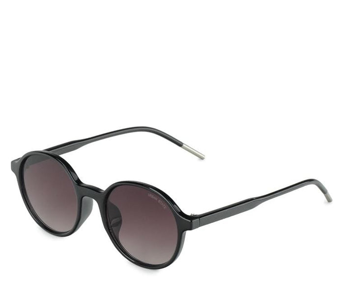Retro Fashion Round Sunglasses - Black Black