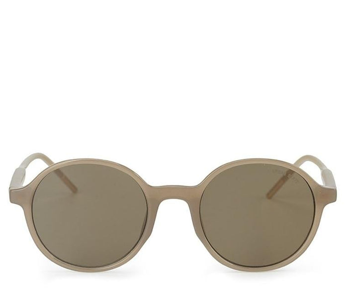 Retro Fashion Round Sunglasses - Brown Cream