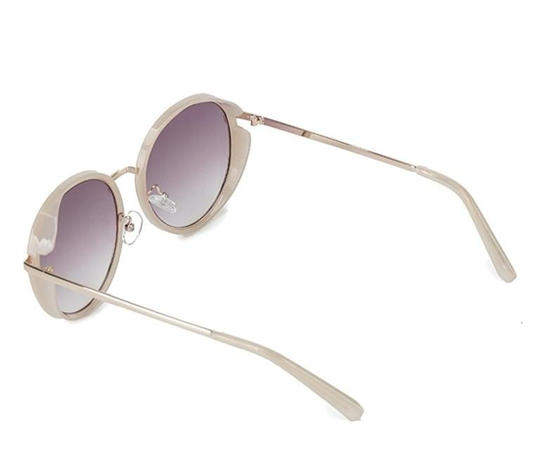 Oversized Round Sunglasses - Purple White Sunglasses - Urban State Indonesia