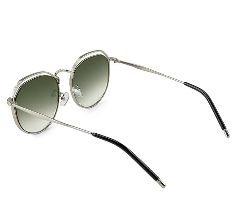 Metal Frame Retro Sunglasses - Green Silver Sunglasses - Urban State Indonesia