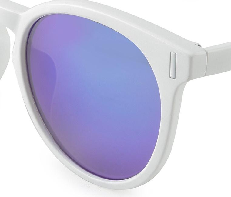 Plastic Framed Statement Sunglasses - Blue White Sunglasses - Urban State Indonesia