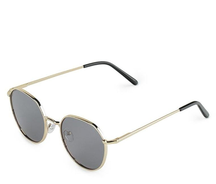 Polarized Retro Round Sunglasses - Black Gold