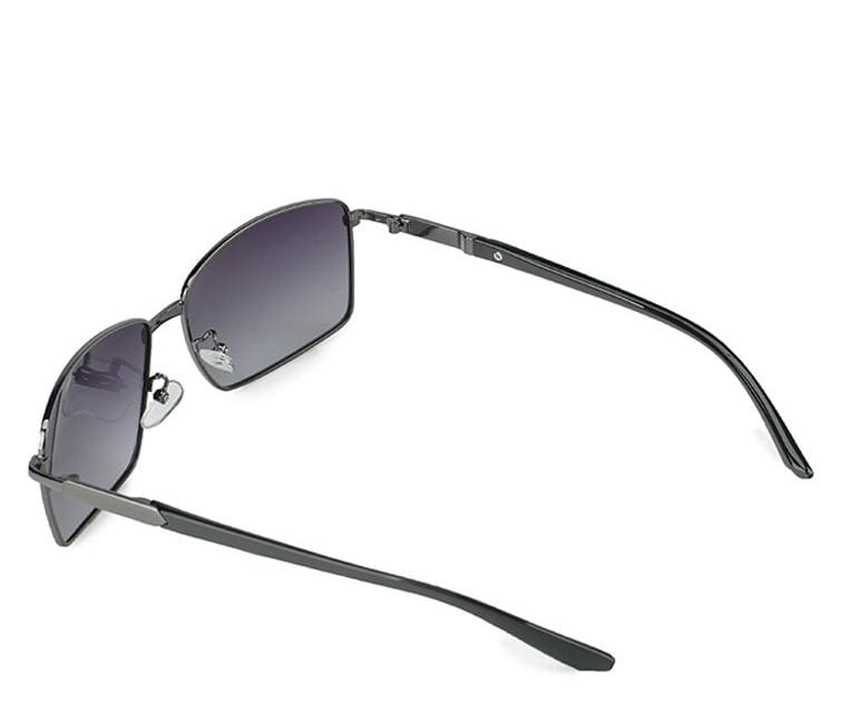Polarized Slim Curved Sunglasses - Black Black