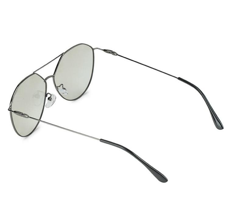 Polarized Fashion Aviator Sunglasses - Grey Silver