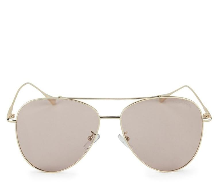 Polarized Slim Aviator Sunglasses - Brown Gold