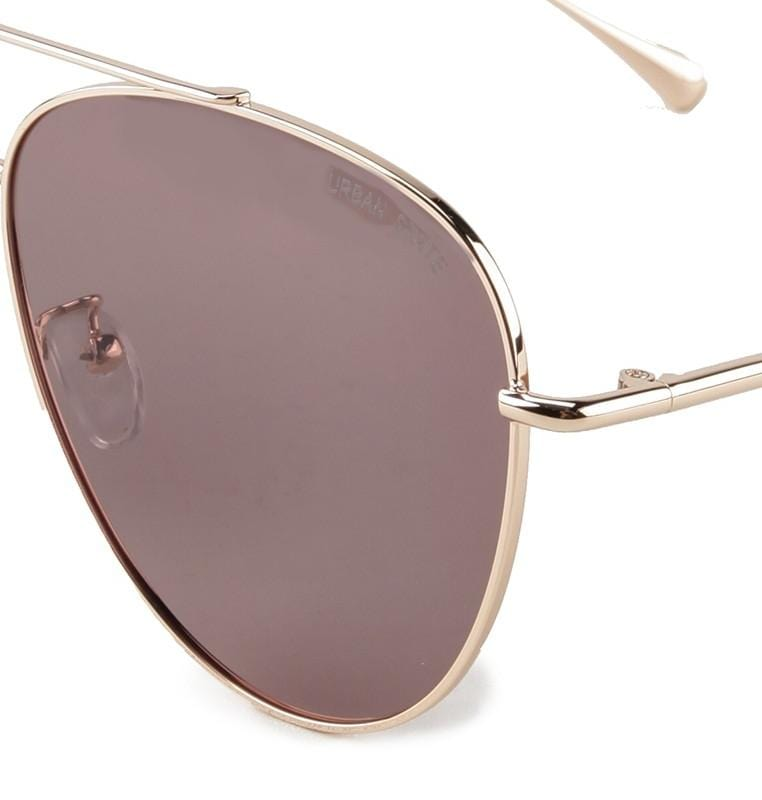 Polarized Slim Aviator Sunglasses - Purple Gold