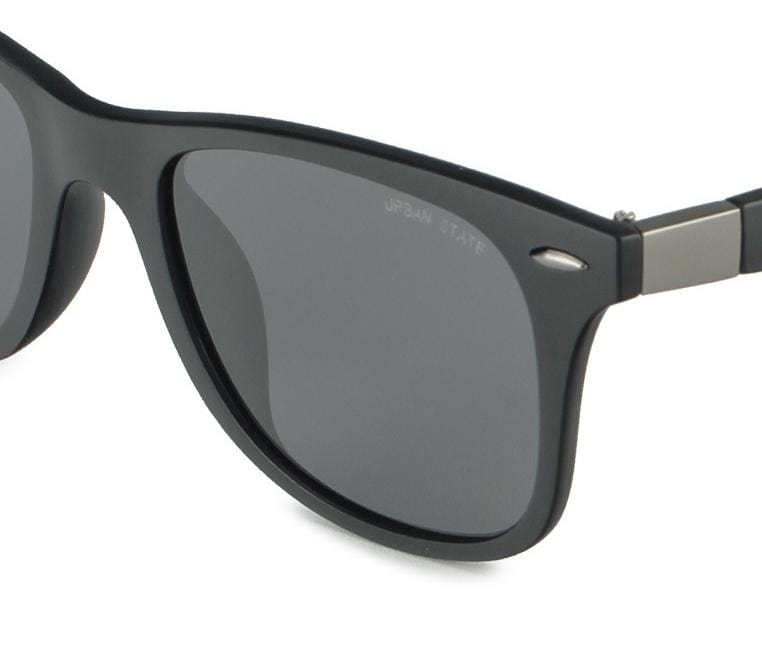 Polarized Matte Frame Rectangular Sunglasses - Black Matte