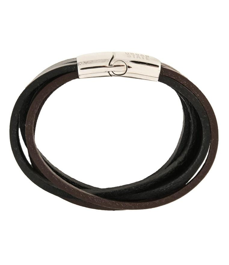 Multi-Layer Leather Bracelet - Black Brown Bracelets - Urban State Indonesia