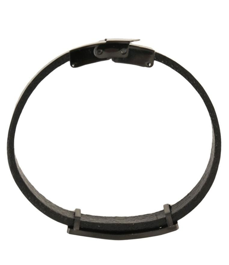Operations Plate Leather Bracelet - Black Bracelets - Urban State Indonesia