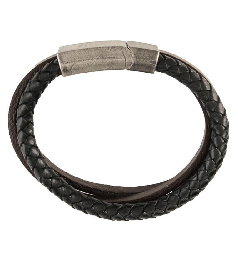 Tri-Layer Woven Leather Bracelet - Brown Bracelets - Urban State Indonesia