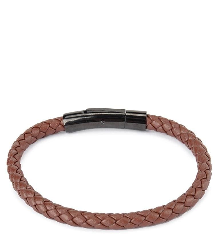 Single Braided Leather Bracelet - Brown Bracelets - Urban State Indonesia