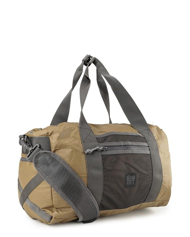 Poly Nylon Mesh Duffel Bag - Brown