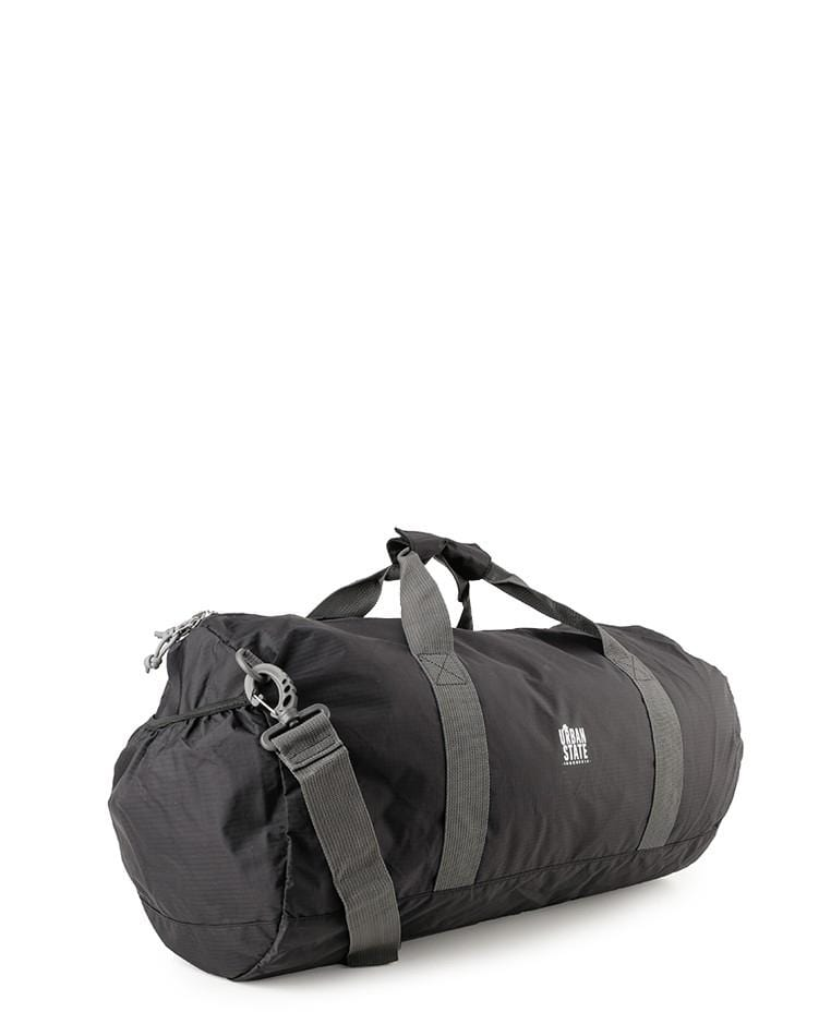 Poly Nylon Convertible Duffel Pouch - Black