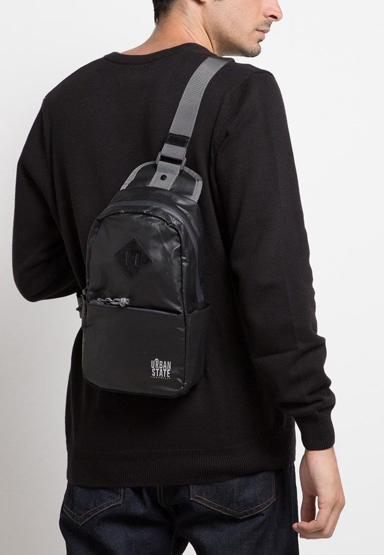 Poly Nylon Small Slingbag - Black