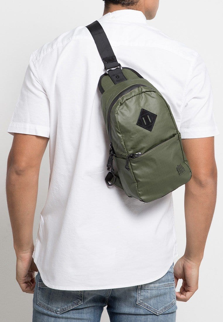 Poly Nylon Small Slingbag - Green Slingbags - Urban State Indonesia
