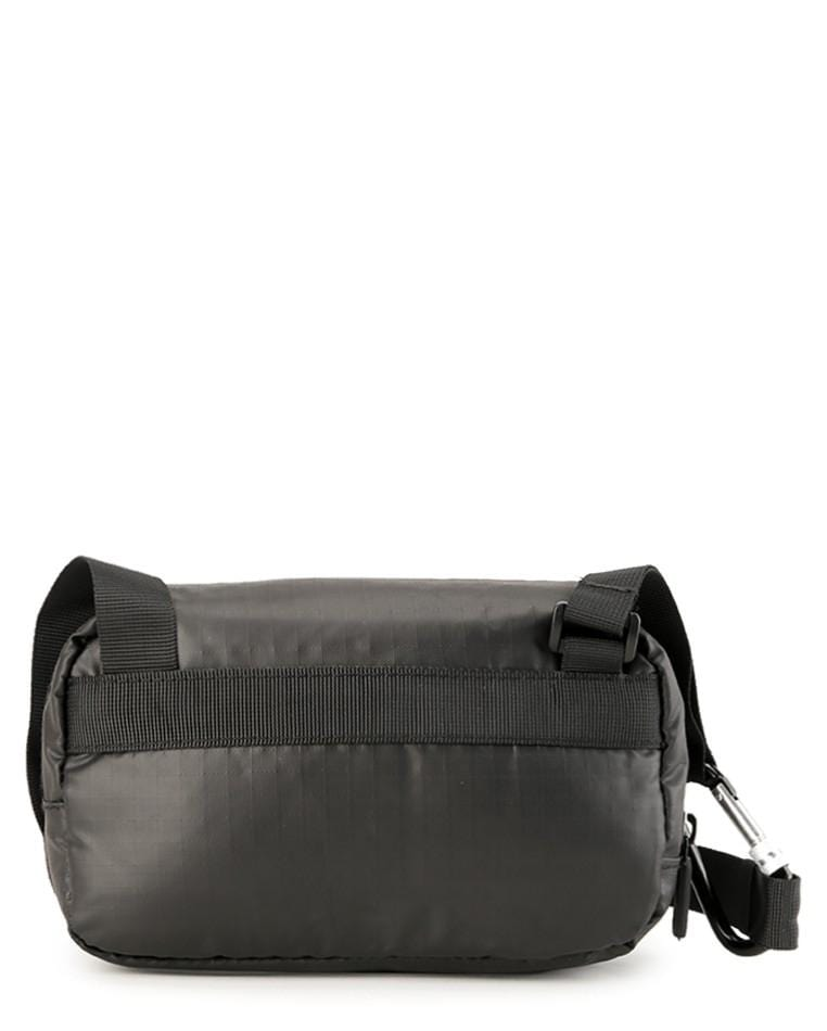 Poly Nylon Shoulder Pouch - Black