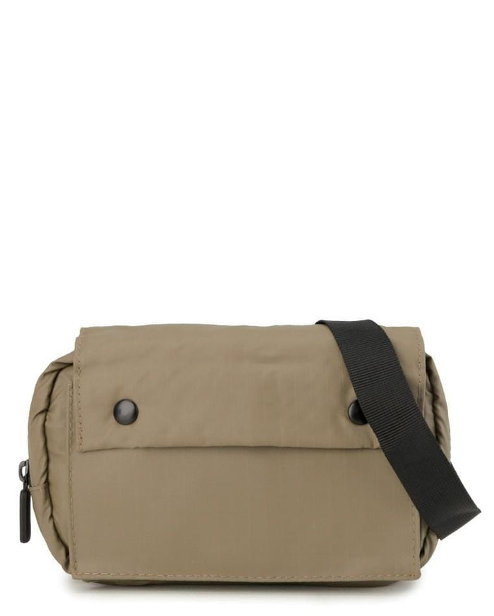 Poly Nylon Shoulder Pouch - Brown