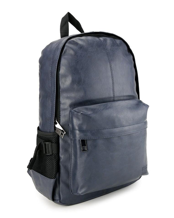 Distressed Leather Mesh Backpack - Navy Backpacks - Urban State Indonesia