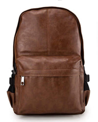Distressed Leather Mesh Backpack - Camel Backpacks - Urban State Indonesia