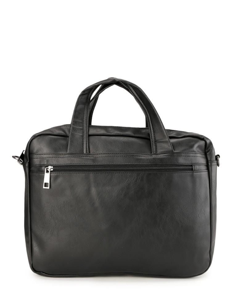 Distressed Leather Laptop Tote Bag - Black Duffel Bags - Urban State Indonesia