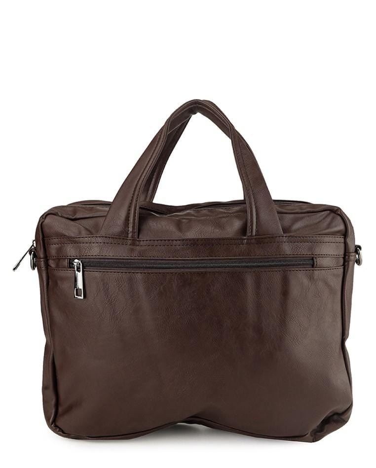 Distressed Leather Laptop Tote Bag - Dark Brown Messenger Bags - Urban State Indonesia