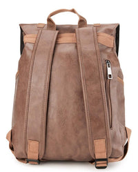 Distressed Leather Nomad Backpack - Camel Backpacks - Urban State Indonesia