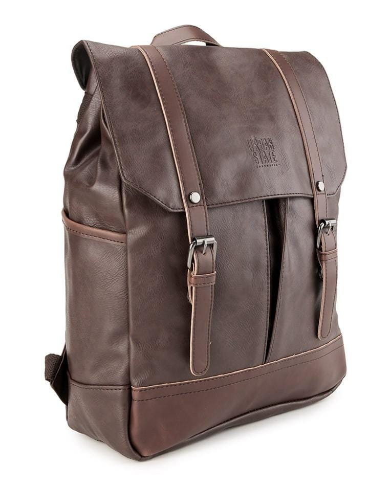 Distressed Leather Nomad Backpack - Dark Brown Backpacks - Urban State Indonesia