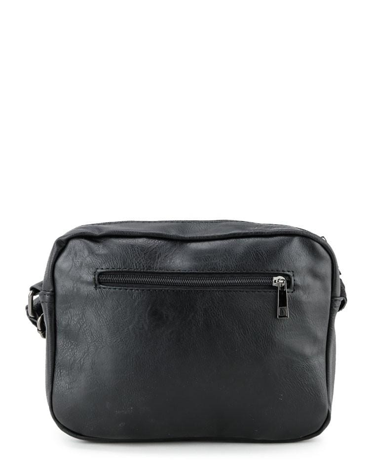 Distressed Leather Flight Crossbody Bag - Black Messenger Bags - Urban State Indonesia