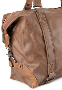 Distressed Leather Holdall Duffel Bag - Camel Duffel Bags - Urban State Indonesia