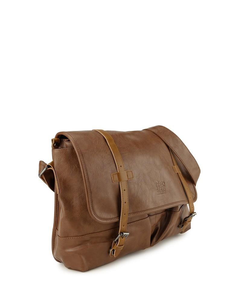 Distressed Leather Nomad Messenger Bag - Camel Messenger Bags - Urban State Indonesia