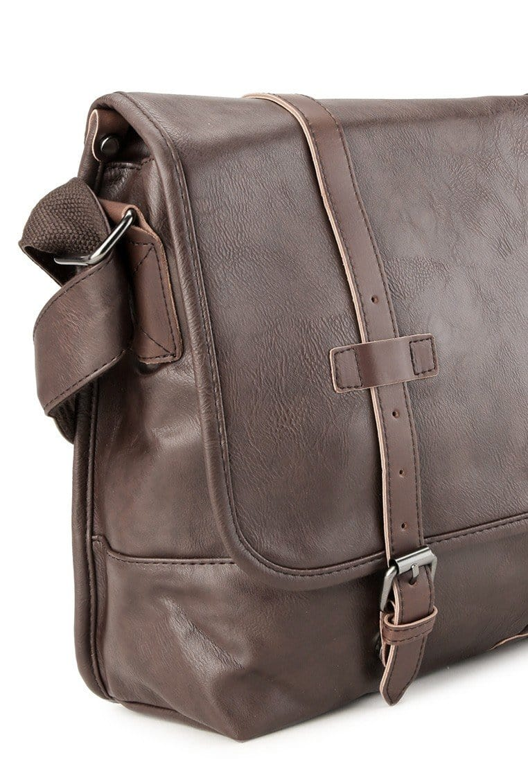 Distressed Leather Nomad Messenger Bag - Dark Brown Messenger Bags - Urban State Indonesia