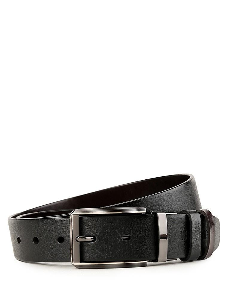 Reversible List Edge Pin Buckle Top Grain Leather Belt - Silver Belts - Urban State Indonesia