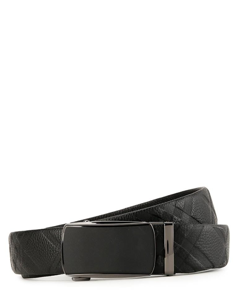 Matte Plate Buckle Full Grain Leather Belt - Black Belts - Urban State Indonesia