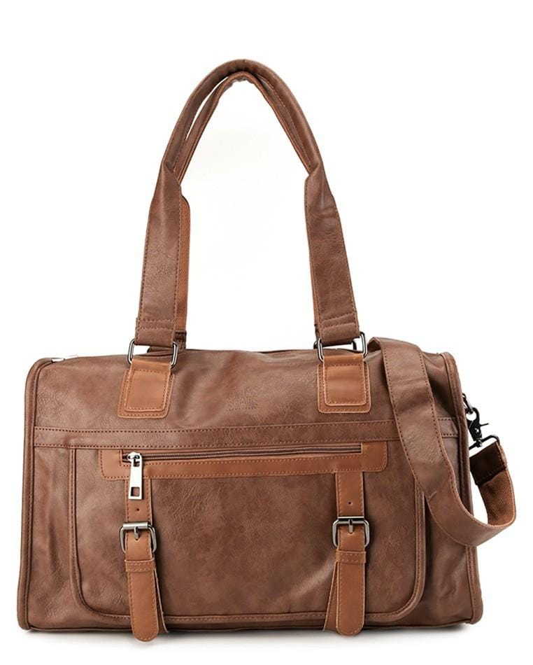 Distressed Leather Nomad Weekender - Camel Duffel Bags - Urban State Indonesia
