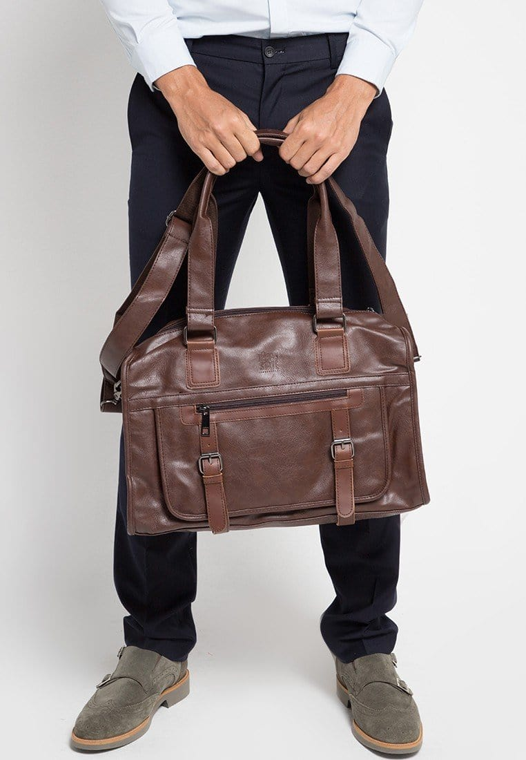 Distressed Leather Nomad Weekender - Dark Brown Duffel Bags - Urban State Indonesia