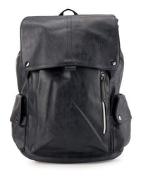 Pu Pocket Flap Large Backpack - Navy Backpacks - Urban State Indonesia