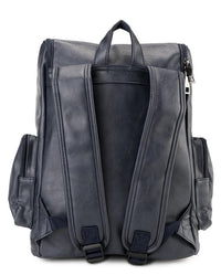PU Zip Flap Large Backpack - Navy Backpacks - Urban State Indonesia