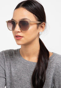 Retro Fashion Edge Sunglasses - Black Cream