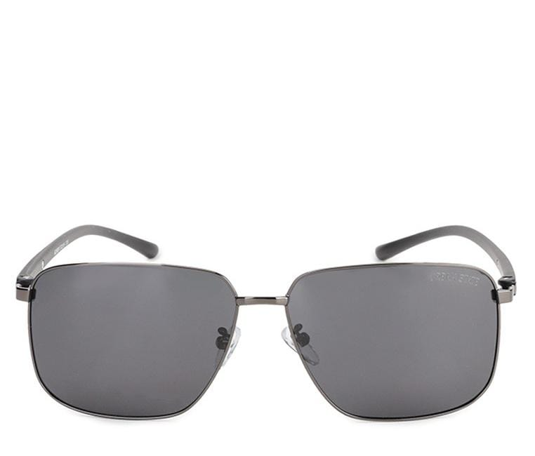Polarized Oversized Rectangular Sunglasses - Black Silver Sunglasses - Urban State Indonesia