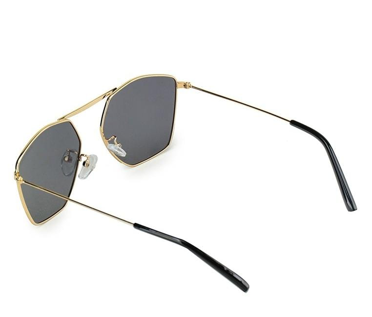 Polarized Bridgeless Fashion Sunglasses - Black Gold Sunglasses - Urban State Indonesia