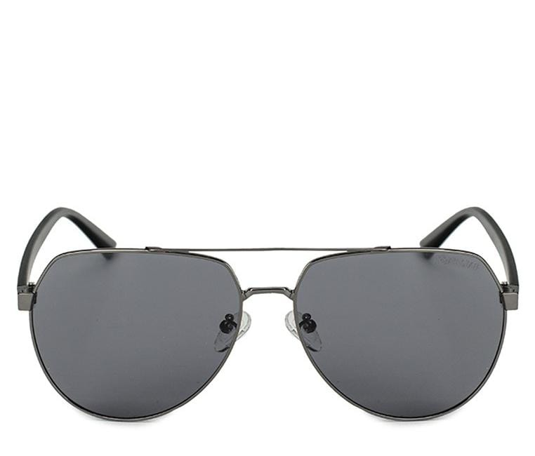 Polarized Metal Rimmed Aviator Sunglasses - Black Silver Sunglasses - Urban State Indonesia