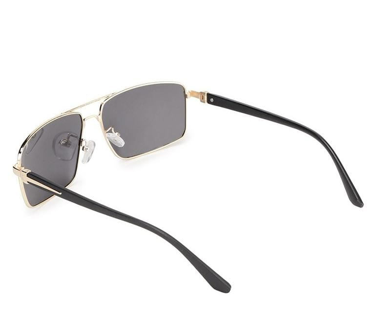 Polarized Slim Metal Tinted Sunglasses - Black Gold Sunglasses - Urban State Indonesia