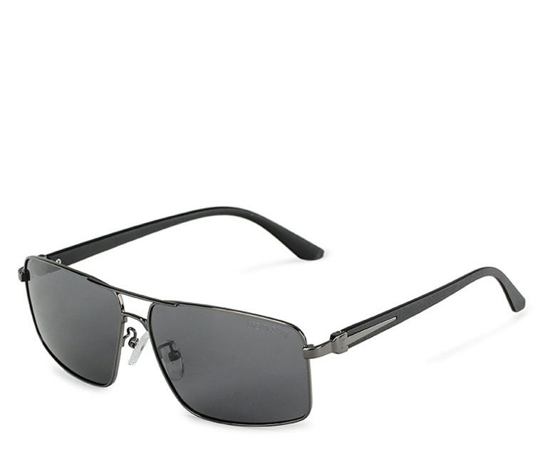 Polarized Slim Metal Tinted Sunglasses - Black Silver Sunglasses - Urban State Indonesia
