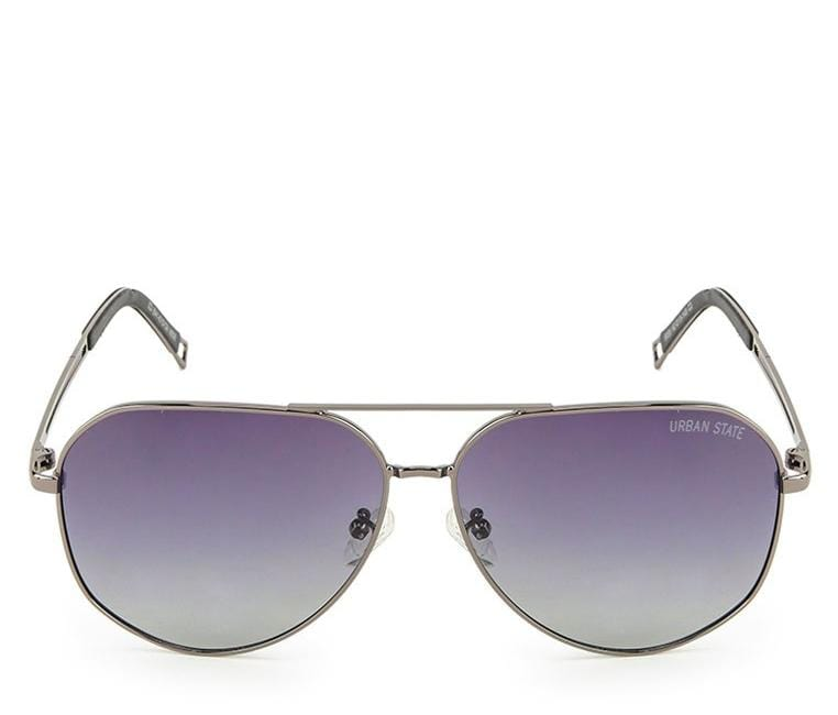 Polarized Wide Aviator Sunglasses - Black Silver Sunglasses - Urban State Indonesia