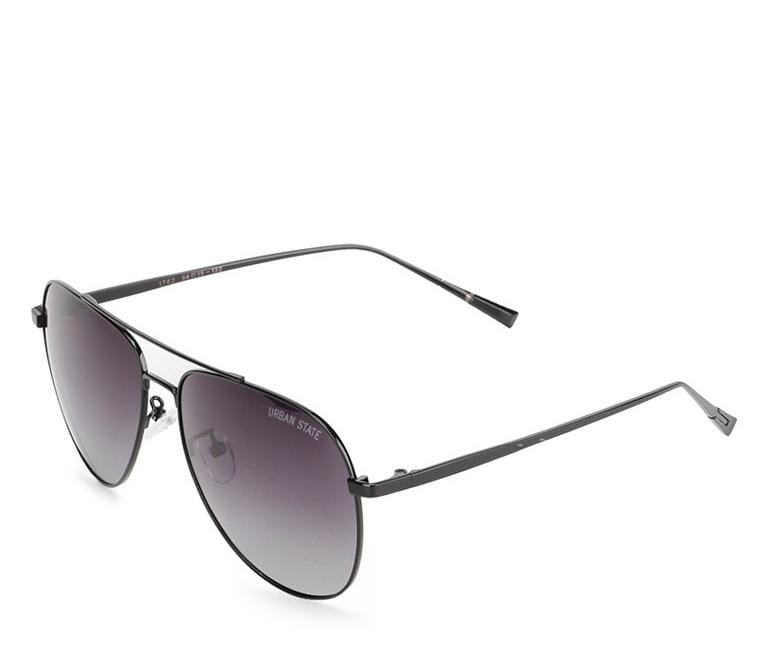 Polarized Military Aviator Sunglasses - Black Black