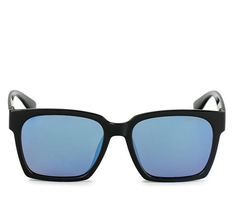 Polarized Square Rimmed Sunglasses - Dark Blue